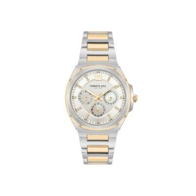 ケネスコール レディース 腕時計 アクセサリー Women's Multifunction Two Tone Gold-Tone Stainless Steel Bracelet Watch 36mm