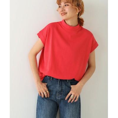 USコットンモックネックフレンチTシャツ