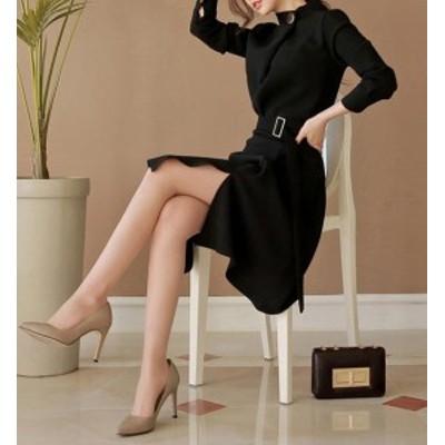 ワンピース ワンピースドレス シャツワンピース フォーマルワンピース 黒 膝丈ワンピース 膝丈ドレス タイトスカート 大きいサイズ 体型