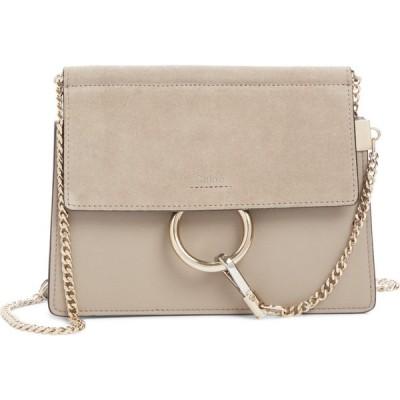 クロエ CHLOE レディース ショルダーバッグ バッグ Mini Faye Suede & Leather Crossbody Bag Motty Grey