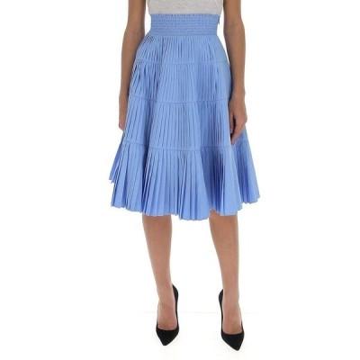プラダ レディース スカート ボトムス Prada Pleated Flared Skirt -
