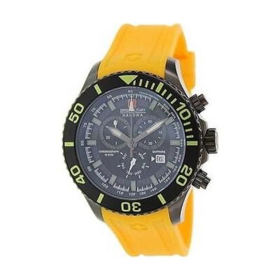 腕時計 スイスミリタリー スイス ミリタリー Hanowa メンズ 06-4226-13-007-11 イエロー ラバー スイス クォーツ 腕時計