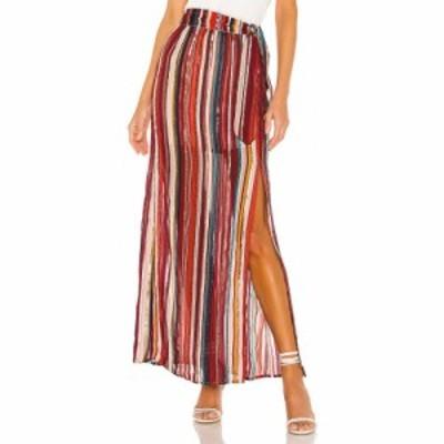 ハウスオブハーロウ1960 House of Harlow 1960 レディース ロング・マキシ丈スカート スカート x REVOLVE Mya Maxi Skirt Red Multi Stri