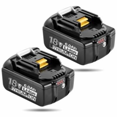 マキタ 18V バッテリー 6.0Ah 互換 BL1860B マキタ バッテリー 18V LED残量表示 BL1830 BL1840 BL1850 BL1860 リチウムイオン電池 2個セ