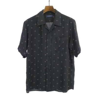 John UNDERCOVER ジョン アンダーカバー オープンカラーシャツ ブラック 2 メンズ