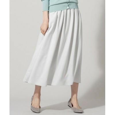 組曲/クミキョク 【肩ひも付き・2WAY】ヌーディスバックサテン スカート ライトグレー系 1