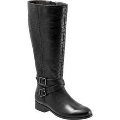 トロッターズ Trotters レディース ブーツ ロングブーツ シューズ・靴 Liberty Knee High Boot Black Burnished Leather/Embossed Anacon
