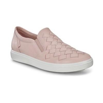 エコー レディース スニーカー シューズ Women's Soft 7 Woven Slip-On Sneakers Rose Dust