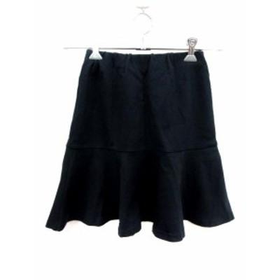 【中古】アダムエロペ Adam et Rope' スカート フレア ミニ 38 紺 ネイビー /YI レディース