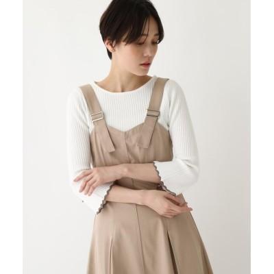 AG by aquagirl(エージー バイ アクアガール) 【洗える】ラインスカラリブニット