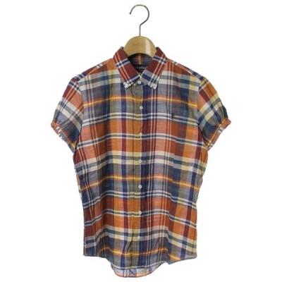 シャツ ブラウス チェック柄半袖シャツ
