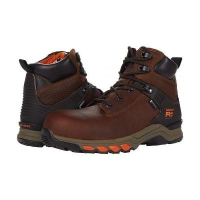 "Timberland PRO ティンバーランド メンズ 男性用 シューズ 靴 ブーツ ワークブーツ Hypercharge 6"" Composite Safety Toe Waterproof - Brown"