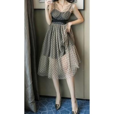 結婚式 ドレス お呼ばれ ワンピース 30代 20代 キャバドレス ロング パーティードレス ワンピース 夏 aライン ワンピース ミモレ丈 vネック ノースリーブ jm7070