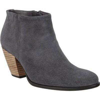 エコー レディース ブーツ・レインブーツ シューズ Women's ECCO Shape 55 HYDROMAX Western Ankle Bootie Magnet Calf Suede