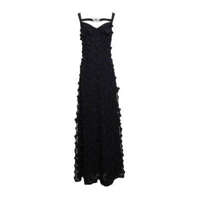 クラス ロベルト カヴァリ CAVALLI CLASS ロングワンピース&ドレス ブラック 40 ポリエステル 100% / アセテート ロングワン