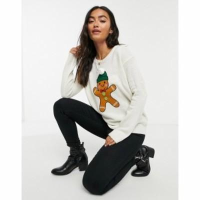 ブレイブソウル Brave Soul レディース ニット・セーター トップス Gingerbread Christmas Jumper クリーム
