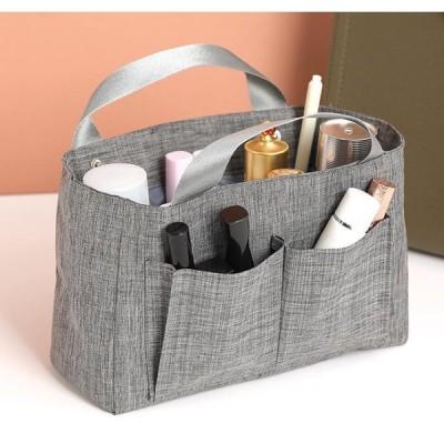 持ち手付きバッグインバッグ ミニバッグ 小物入れ バッグ整理 収納 ポーチ シンプル