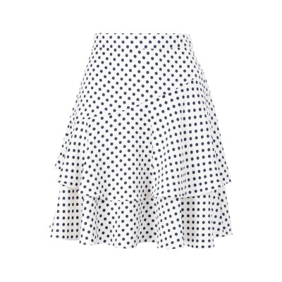 ALEXACHUNG ひざ丈スカート アイボリー 8 ポリエステル 100% ひざ丈スカート