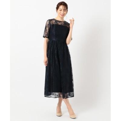 【エニィスィス】 エアリーチュールレース ドレス レディース ネイビー 1 any SiS