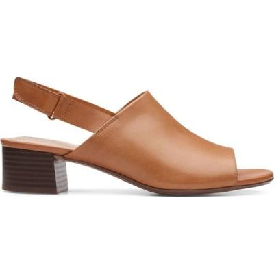 クラークス Clarks レディース サンダル・ミュール シューズ・靴 elisa lyndsey leather slingback sandals タン