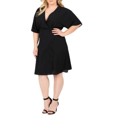 スタンダーズ アンド プラクティス レディース ワンピース トップス Standards & Practices Candice Georgette Wrap Dress (Plus Size)
