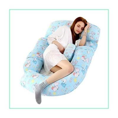 FYSDTO Full Body Maternity Pillow, Cotton Pregnancy Pillow with Zip Detachable Case Cover/Bolster Pillows,Kks04【並行輸入品】