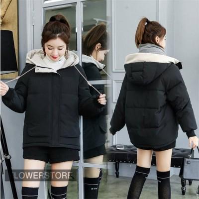 中綿コート レディース 20代 ショート丈 秋冬 アウター 中綿コート 中綿ジャケット ダウン風コート フード付き 防寒 暖かい オシャレ 上品