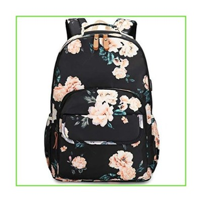 CAMTOP School Backpack Laptop Bookbags for Women Girls College Computer Bags with USB Charging Port (Flower)【並行輸入】【新品】