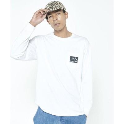 tシャツ Tシャツ 【FLASH PACKER】長袖ピグメントポケットTシャツ FW-02-03
