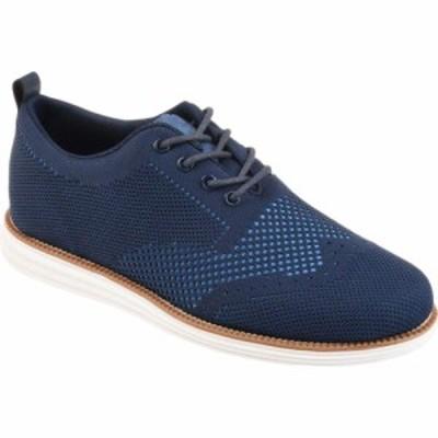 バンス Vance Co. メンズ 革靴・ビジネスシューズ シューズ・靴 Ezra Knit Dress Shoe Blue Fabric
