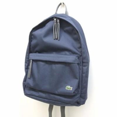 【中古】美品 ラコステ LACOSTE リュックサック バックパック ワンポイント 紺 ネイビー 鞄 /Z メンズ