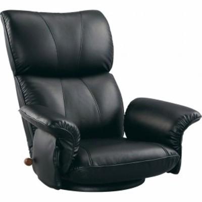 匠 スーパーソフトレザー座椅子 ブラック YS-1396HR 1個