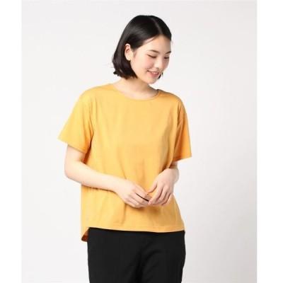 tシャツ Tシャツ エムエフエディトリアルレディース/m.f.editorial:Women 天竺釦付バックシャン半袖プルオーバーTシャツ