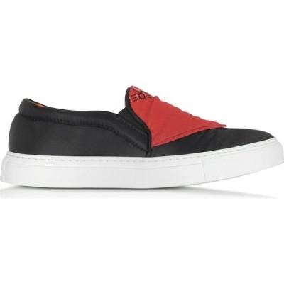 ジョシュア サンダース Joshua Sanders レディース スリッポン・フラット シューズ・靴 Black Nylon Slip On Bandana Sneakers Black