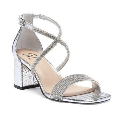 アイエヌシーインターナショナルコンセプト サンダル シューズ レディース INC Women's Nerissa Block-Heel Multi-Band Evening Sandals,  Gold Crystal