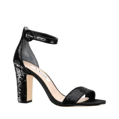 ニナ Nina レディース サンダル・ミュール シューズ・靴 Sianna High Block Heel Sandals Black Sequins
