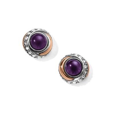 ブライトン レディース ピアス・イヤリング アクセサリー Neptune's Rings Amethyst Button Earrings