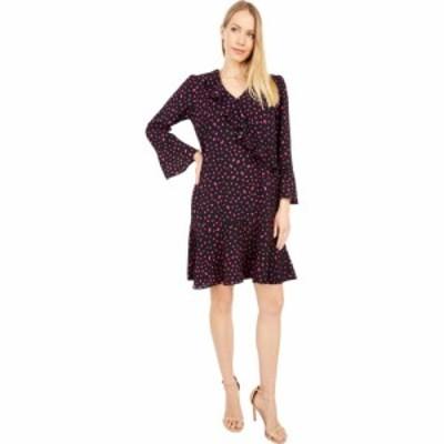 ロンドンタイムス London Times レディース ワンピース バブルドレス Confetti Dot Bubble Crepe Long Sleeve Side Ruffle Flounce Dress