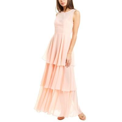 フェームアンドパートナー ワンピース トップス レディース Fame & Partners Sheer Tiered Gown pale pink