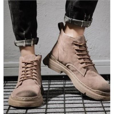 【BIG SALEクーポン利用可】マーチンブーツ メンズ 裏ボア シューズ 靴 メンズファッション ショートブーツ ハイカット ブーツ 紳士靴 復