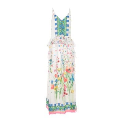 ブルーガール ブルマリン BLUGIRL BLUMARINE ロングワンピース&ドレス ホワイト 40 ポリエステル 100% ロングワンピース&ド