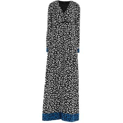 MY TWIN TWINSET ロングワンピース&ドレス ブラック S ポリエステル 100% ロングワンピース&ドレス