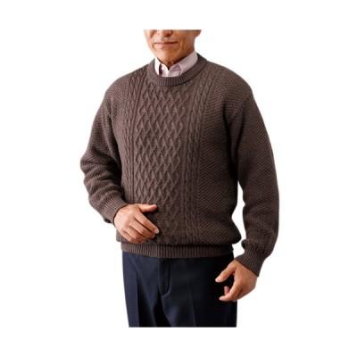 送料無料「秋冬 エムアイジェイ 日本製ウール100%クルーセーター(全3色) クルーネックセーター メンズ 紳士服 シニア ニット 長袖 丸首」 p20367