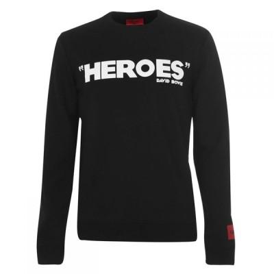 ヒューゴ ボス Hugo メンズ スウェット・トレーナー トップス Heroes Bowie Crew Sweatshirt Black
