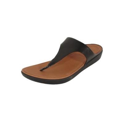 レディース 靴 コンフォートシューズ Fitflop Womens Banda II Toe Thong Leather Sandal Shoes