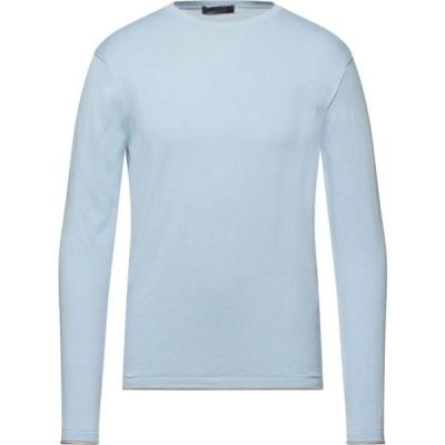 メッサジェリエ MESSAGERIE GREEN FLAG メンズ ニット・セーター トップス Sweater Sky blue
