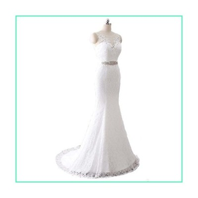 SIQINZHENG Women's Mermaid Lace Up Wedding Dress White Bridal Gowns並行輸入品