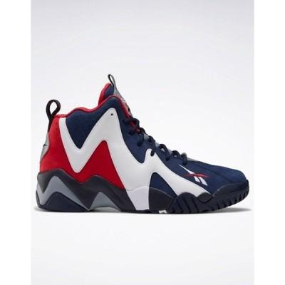 リーボック メンズ スニーカー シューズ Reebok Classics Kamikaze II hi top sneakers in navy and red