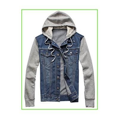 XueYin Men's Denim Hoodie Jacket With Hat Slim Fit Casual Wear(Blue,L size)【並行輸入】【新品】