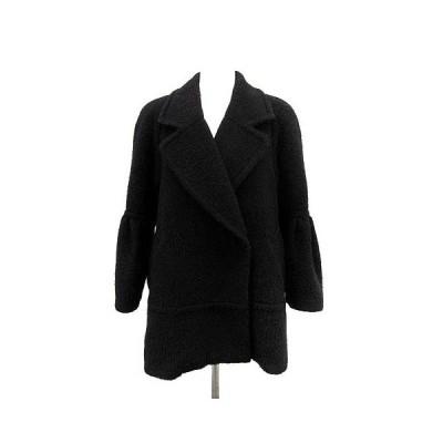 【中古】スナイデル snidel ビッグ スリーブ シャギー コート ウール F 黒 /YI14 ●D レディース 【ベクトル 古着】
